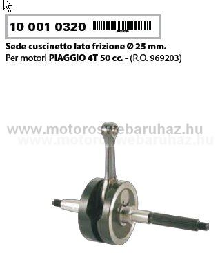 Főtengely RMS PIAGGIO LIBERTY 50 4T / ZIP 50 4T (100010320)