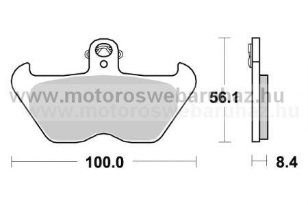 Fékbetét AP RACING (LMP303SF) Szinteres az első kerékhez (front)-utcai