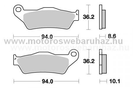 Fékbetét AP RACING (LMP342SR) Szinteres a hátsó kerékhez (rear)-utcai