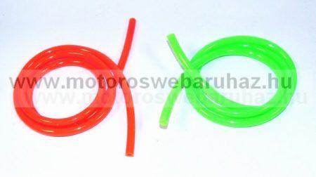 Benzincső 6x8 mm 1 méter színes