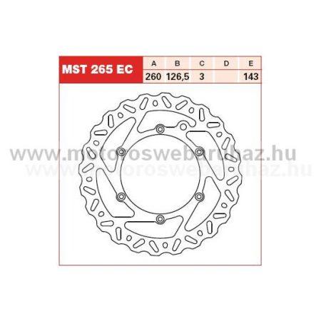 Féktárcsa TRW MST265EC