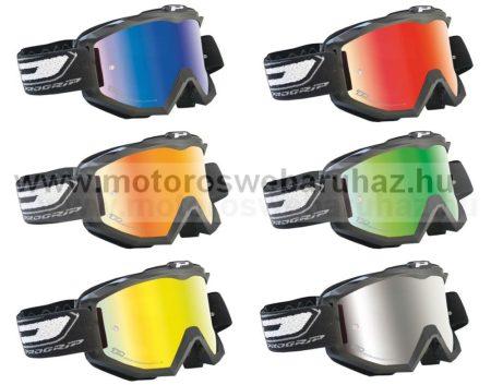 Szemüveg Cross PROGRIP 3204 Matt fekete szemüveg karcálló, páramentes UV szűrős tükrös lencsével 6 féle színben