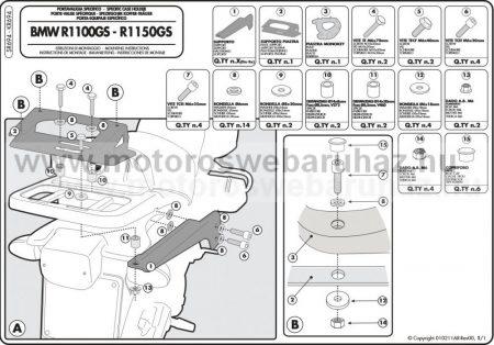 GIVI SR694 Speciális hátsó platni
