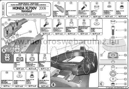 GIVI E225 Spec. hátsó platni Monokey dobozokhoz