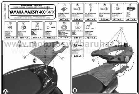 GIVI E331M Spec. hátsó platni Monolock dobozokhoz