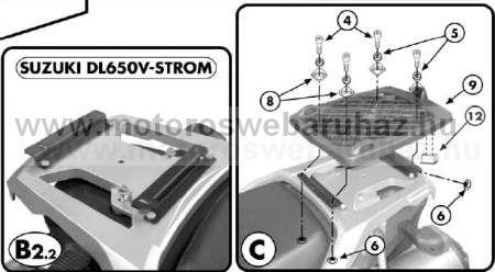 GIVI E528 Spec. hátsó platni Monokey dobozhoz