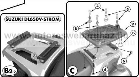 GIVI E528M Spec. hátsó platni Monolock dobozhoz